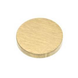 15mm - Flat Caps Satin Brass