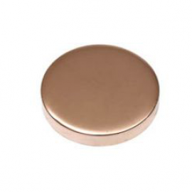 15mm - Flat Caps Copper & Lacquered