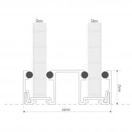DG Office Base Track - 25mm x 66mm - Black