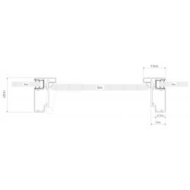 SG Office Door Frame Profile - Black