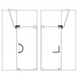 Corner Transom Strike Box With Stopper & Fin - Left - Satin