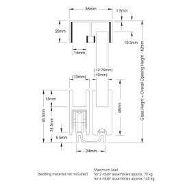 ROBUSTUS Roller Profile - 10mm to 12.76mm Glass