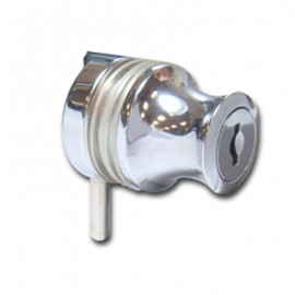 Cylinder Lock 4-6mm Glass - Chrome Plated