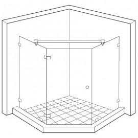 1231mm 360 Degree Glass To Glass Reinforcement Bar Kit - PC