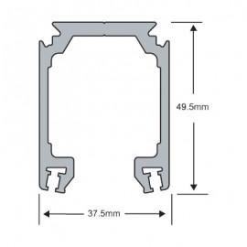 Sliding Door Track - 3Mtr - 120KG